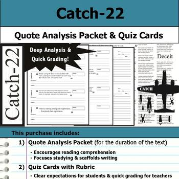 Catch-22 - Quote Analysis & Reading Quizzes