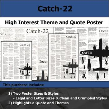 Catch-22 - Visual Theme and Quote Poster for Bulletin Boards