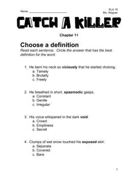 Catch A Killer Novel Study - Chapter 11
