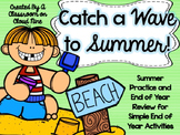 Catch A Wave to Summer {End of Year Activities and Review}