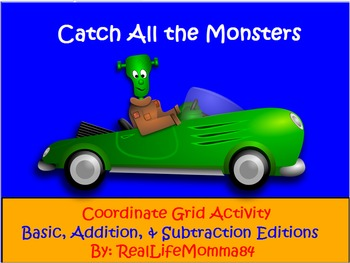 Catch All The Monsters Coordinate Grid Activity