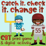 Catch It Check It Change It CBT Board Game Digital and Printable