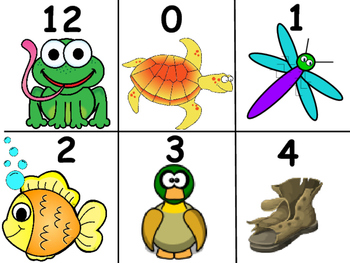 Catch It! Number Recognition, Addition and Subtraction Games Pond Animals