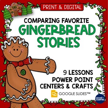 Gingerbread Man Activities Multi Book Study Centers Crafts Teaching Power Point