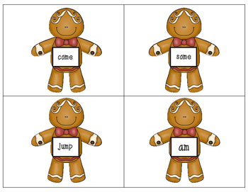 Catch Me If You Can! Gingerbread Sight Word Write the Room