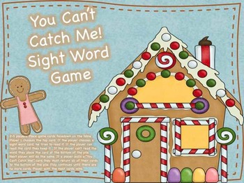 You Can't Catch Me- Sight Word Game