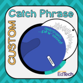 Catch Phrase Custom Disc Template Vocabulary Review Game (
