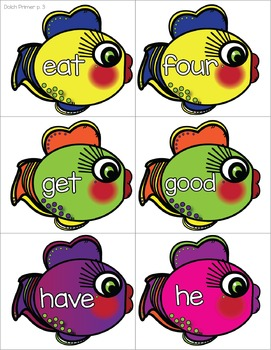Catch Some Fish-y Sight Words- Pre-Primer, Primer and First