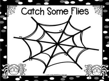 Catch Some Flies:  NO PREP Spider Counting Game