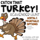 Catch That Turkey! Editable Scavenger Hunt