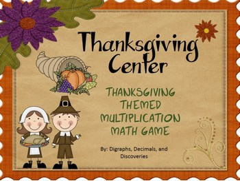 Catch That Turkey: Thanksgiving Themed Multiplication Game