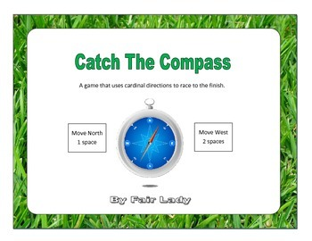 Catch The Compass Game Bundle (Cardinal and Intercardinal directions)