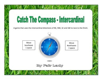 Catch The Compass Game - Intercardinal Directions (NE NW SE SW)