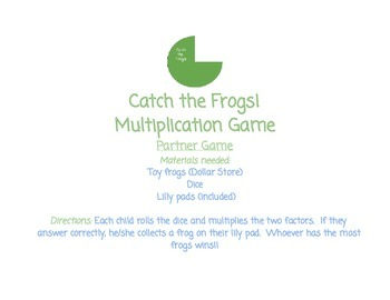 Catch The Frogs! Multiplication Game
