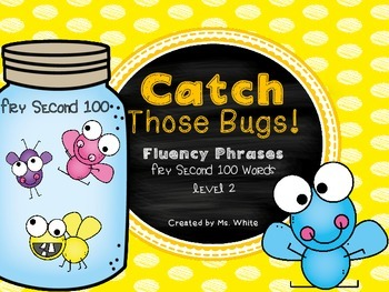 Catch Those Bugs {Fluency Phrases for the Second 100 Fry Words}