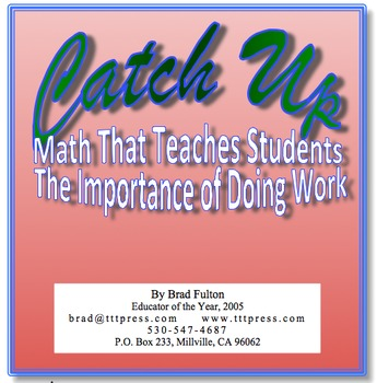 Catch Up: Helping Students Understand the Importance of Completing Work