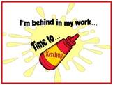 """Catch-Up """"Ketchup"""" Folder for Make-Up Work"""