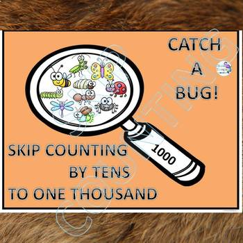 "Catch A Bug ""Skip Counting Flash Cards"" (By 10)"