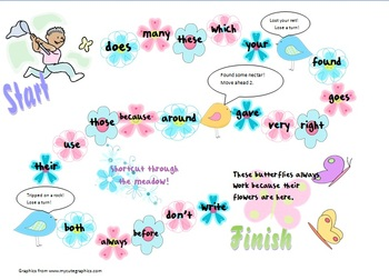 Catch a Butterfly Sight Word Games