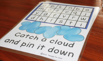 Catch a Cloud: Clothespin fine motor activities