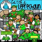 Catch a Leprechaun Clip Art Set - Chirp Graphics