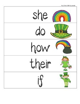 Catch a Leprechaun Fly Swatter Sight word game