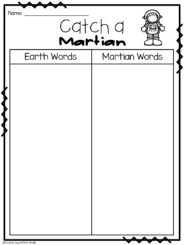 Catch a Martian! {real & nonsense word game}