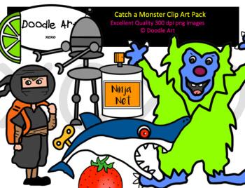 Catch a Monster Clip Art Pack