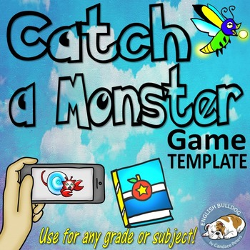 Catch a Monster Bomb Game Template