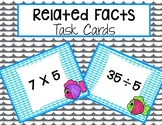 Catch a Pair! Related Facts Task Cards- Multiplication and