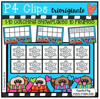 Catch a Snowflake 10 Frame (P4 Clips Trioriginals)