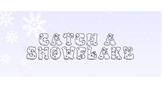 Catch a Snowflake! - SMART Board math fact activity
