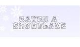 Catch a Snowflake! - SMART Board math fact activity