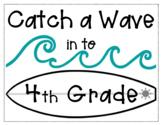 Catch a Wave Bulletin Board Editable