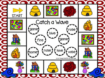 Catch a Wave:  NO PREP Summer Themed CVCe Words Bump Game