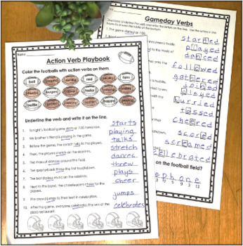 Catch an Action Verb Task Cards