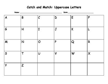 """Catch and Match"" Activity Mats: Letters and Numbers"
