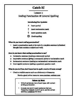 Catch it! Grammar Lessons 1-14