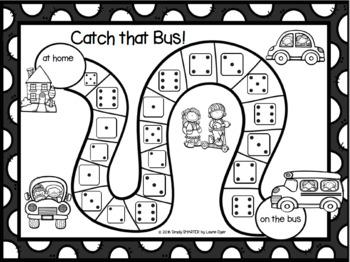 NO PREP Back to School Themed Subitizing Board Game