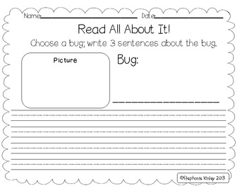 Catch the Bug - 11 Literacy Centers - Common Core Aligned