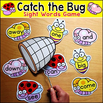 Sight Words Game - Catch the Bug - Bumble Bee, Ladybug, Butterfly
