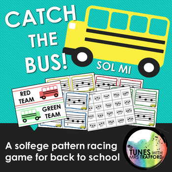 Catch the Bus: A Solfege Pattern Racing Game for Back to School (Sol Mi)