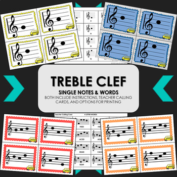 Catch the Bus: Treble Clef Note Name & Solfege Pattern Racing Game BUNDLE
