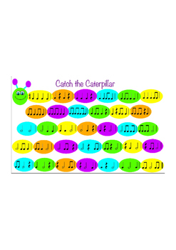 Catch the Caterpillar - Rhythm Game - Quarter Notes/Rests, Eighth and Half Notes