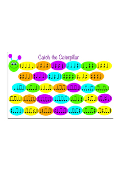 Catch the Caterpillar - Rhythm Game - Quarter Notes and Rests, Eighth Notes