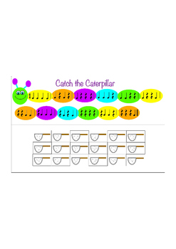 Catch the Caterpillar - Rhythm Game - Quarter Notes and Quarter Rests