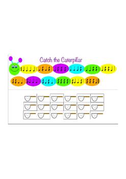 Catch the Caterpillar - Rhythm Game - Quarter Notes and Qu