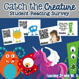 Catch the Creature - A  Student Reading Survey (editable template included)