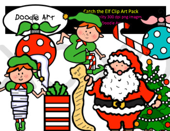 Catch the Elf Clipart Pack