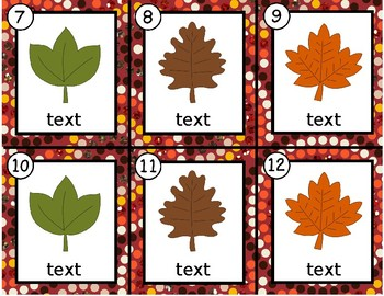 Leaves~ Editable Write the Room
